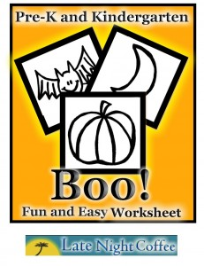 PreK/Kindergarten Halloween Activity Sheet