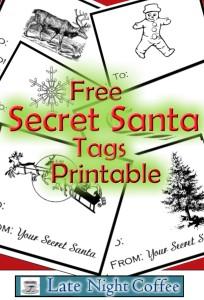 Free Secret Santa Tags!